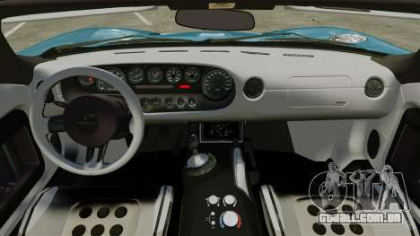 Ford GTX1 2006 para GTA 4 vista interior