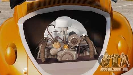 Volkswagen Fusca Edit para GTA 4 vista de volta