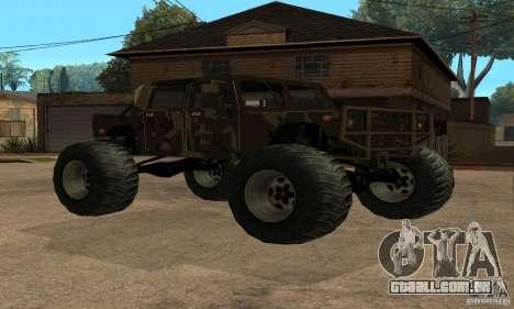 Monster Patriot para GTA San Andreas vista traseira