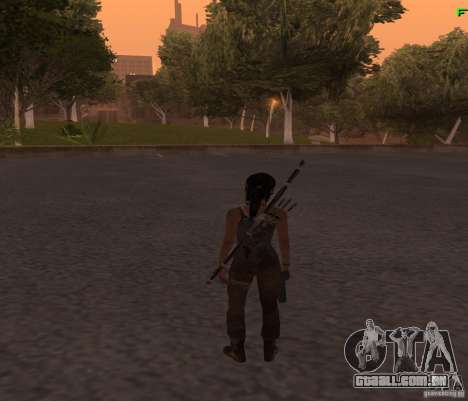 Skin Tomb Raider 2013 para GTA San Andreas terceira tela