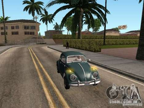 Volkswagen Beetle para GTA San Andreas vista traseira