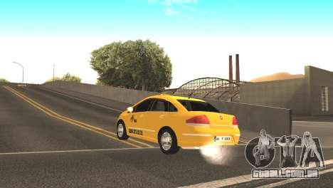 Fiat Linea Taxi para GTA San Andreas traseira esquerda vista