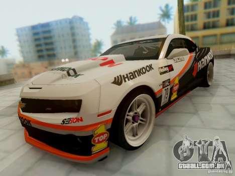 Chevrolet Camaro Hankook Tire para GTA San Andreas vista traseira