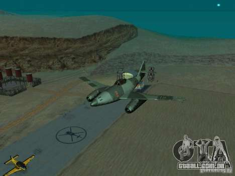 Messerschmitt Me262 para GTA San Andreas vista traseira