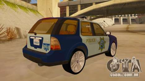 Saab 9-7X Police para GTA San Andreas vista direita