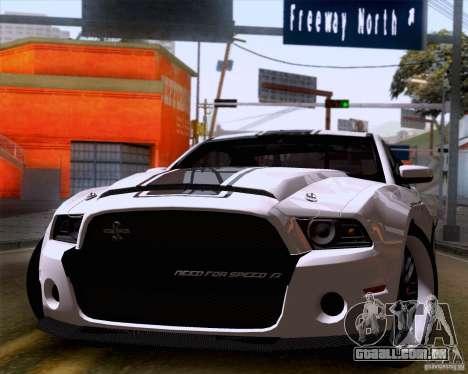 Ford Shelby GT500 Super Snake para GTA San Andreas traseira esquerda vista