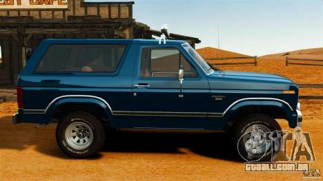 Ford Bronco 1980 para GTA 4 esquerda vista