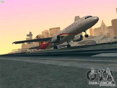 Airbus A320-214 Hong Kong Airlines para GTA San Andreas vista superior
