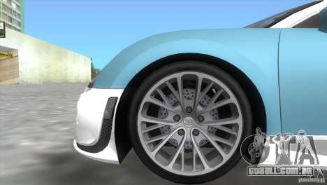 Bugatti ExtremeVeyron para GTA Vice City vista direita