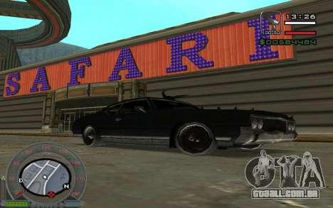 New Sabre para GTA San Andreas vista direita
