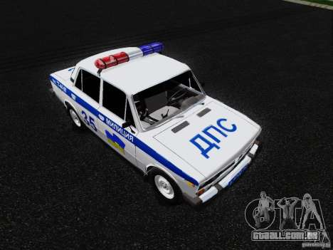 Polícia de 2106 VAZ para GTA San Andreas vista direita