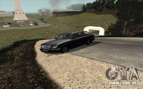 GAZ Volga 31104 para GTA San Andreas traseira esquerda vista