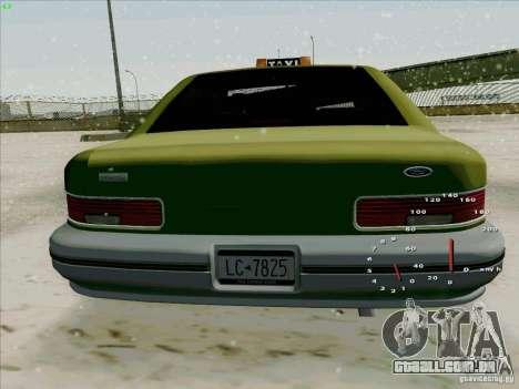 HD táxi SA de GTA 3 para GTA San Andreas vista direita