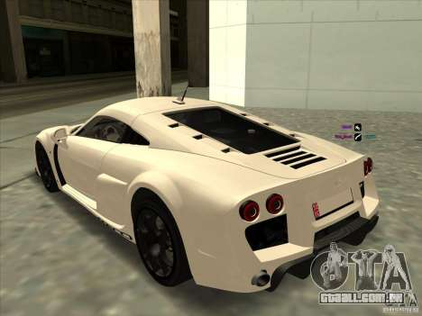 Noble M600 para GTA San Andreas esquerda vista