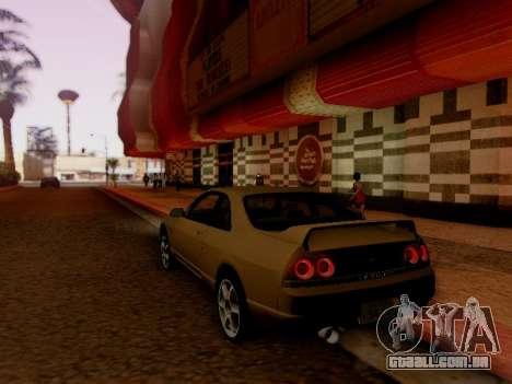 Nissan Skyline ECR33 para GTA San Andreas vista traseira