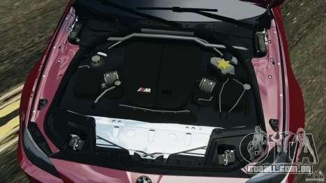 BMW M5 2012 para GTA 4 vista superior