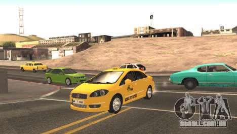 Fiat Linea Taxi para GTA San Andreas esquerda vista