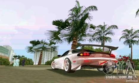 Mazda RX7 tuning para GTA Vice City vista direita