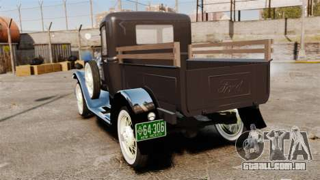 Ford Model T Truck 1927 para GTA 4 traseira esquerda vista