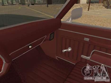 1970 Chevrolet Monte Carlo para GTA San Andreas vista inferior