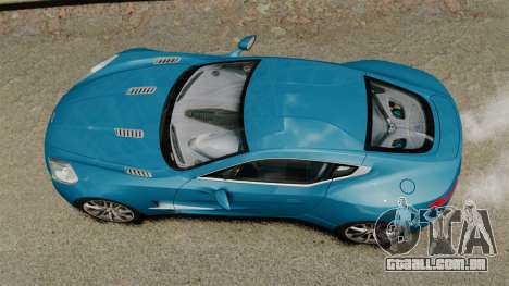 Aston Martin One-77 para GTA 4 vista direita