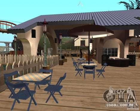Villa na lagoa de pesca para GTA San Andreas quinto tela