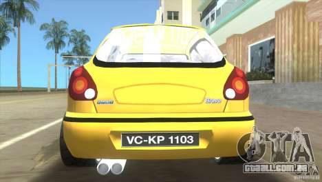 Fiat Bravo para GTA Vice City vista traseira esquerda