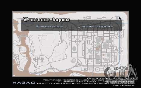 GTA V map para GTA San Andreas segunda tela