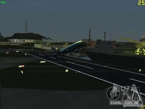 Boeing 767-300 AeroSvit Ukrainian Airlines para GTA San Andreas vista traseira
