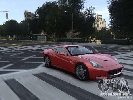 Ferrari California 2009 para GTA 4 vista de volta