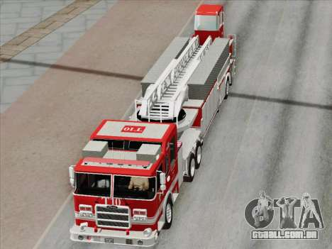 Pierce Arrow XT LAFD Tiller Ladder Truck 10 para o motor de GTA San Andreas