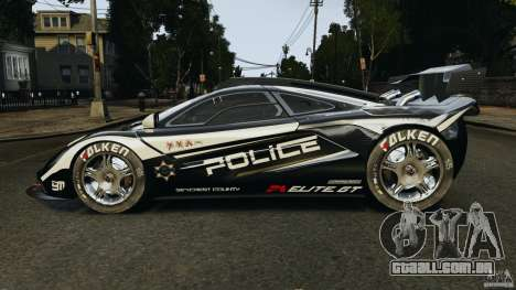 McLaren F1 ELITE Police para GTA 4 esquerda vista