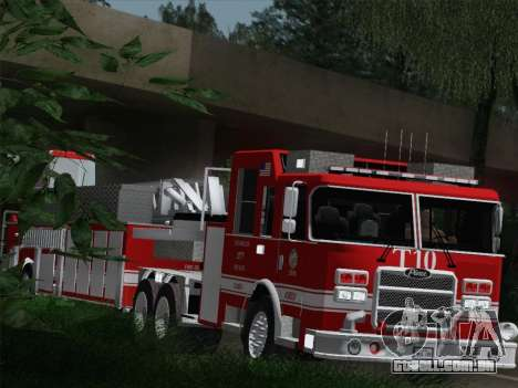 Pierce Arrow XT LAFD Tiller Ladder Truck 10 para vista lateral GTA San Andreas