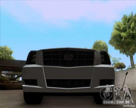 Cadillac Escalade ESV Platinum 2013 para GTA San Andreas vista interior