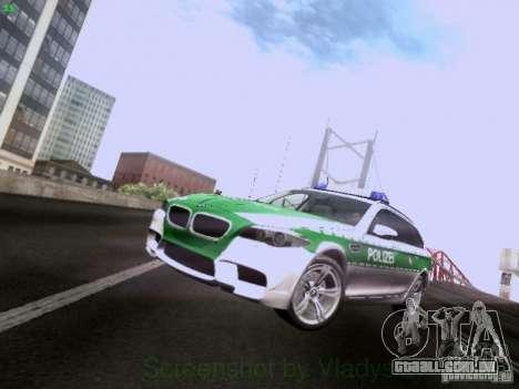 BMW M5 Touring Polizei para GTA San Andreas esquerda vista