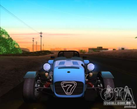 Caterham Superlight R500 para GTA San Andreas vista inferior