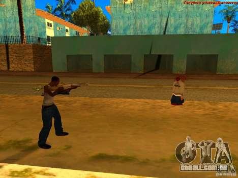 New Animations V1.0 para GTA San Andreas segunda tela