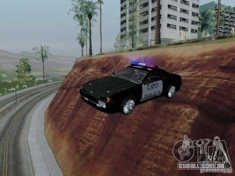 Elegy Police LS para GTA San Andreas vista interior