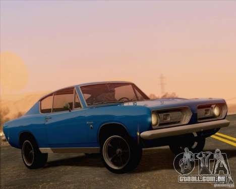 Plymouth Barracuda 1968 para GTA San Andreas vista superior