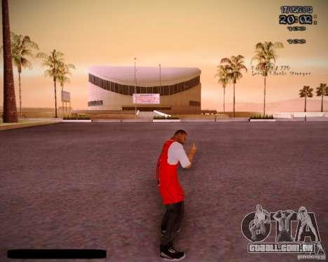 Pele Chicago Bulls para GTA San Andreas por diante tela