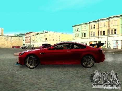 BMW M6 2013 para GTA San Andreas vista direita