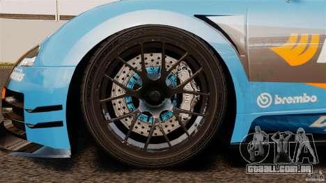 Bugatti Veyron 16.4 Body Kit Final para GTA 4 vista interior