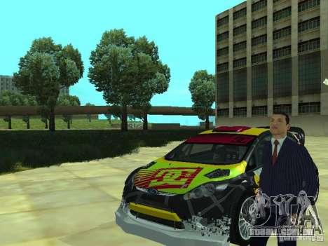 Ford Fiesta H.F.H.V. Ken Block Gymkhana 5 para GTA San Andreas vista direita
