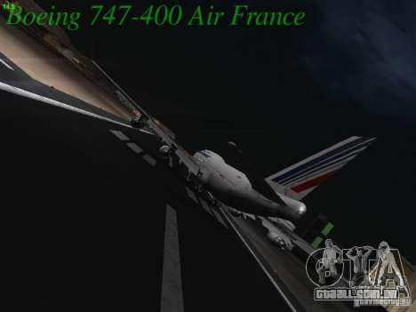 Boeing 747-400 Air France para GTA San Andreas vista direita