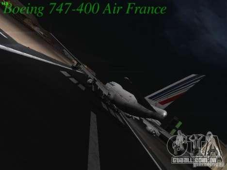 Boeing 747-400 Air France para GTA San Andreas vista direita