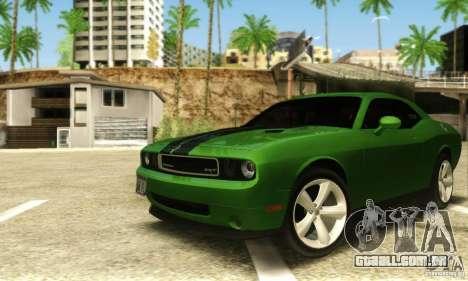 Dodge Challenger SRT-8 para GTA San Andreas esquerda vista