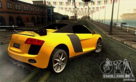 Audi R8 Spyder Tunable para o motor de GTA San Andreas