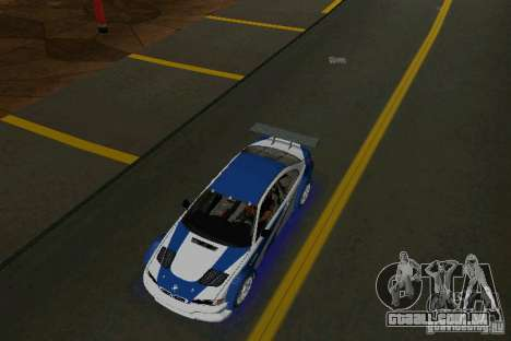 BMW M3 GTR NFSMW para GTA Vice City vista direita