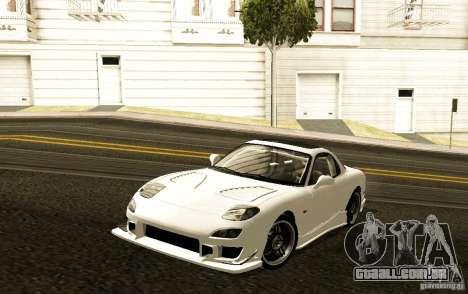 Mazda RX-7 C-West para GTA San Andreas esquerda vista
