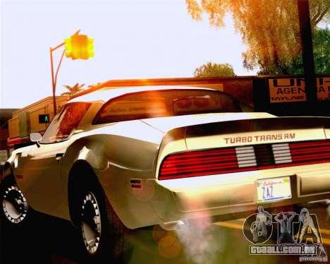 Lensflare Settings para GTA San Andreas terceira tela